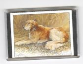 GOLDERN RETRIEVER LARGE FRIDGE MAGNET 6